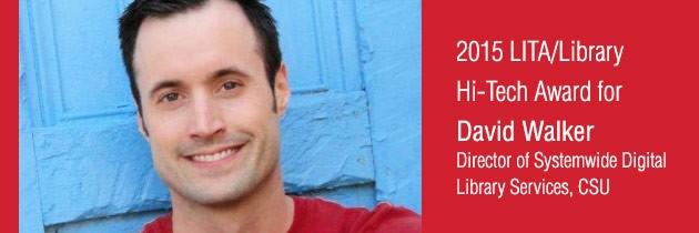 David Walker receives 2015 LITA/Library Hi Tech Award